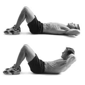 Exercice abdominaux crunchs