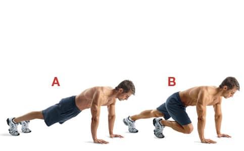 Exercice abdominaux mountain climber