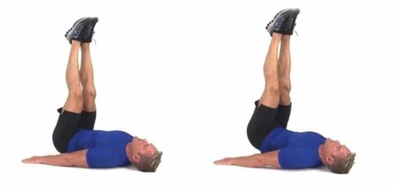 Exercices abdos hips raises