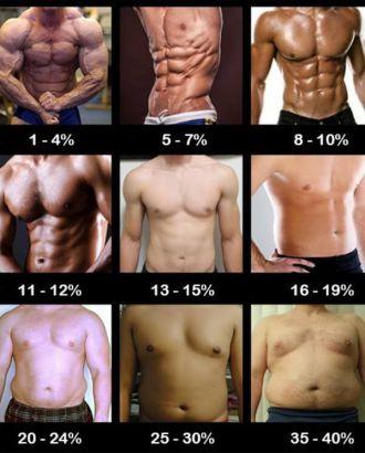 Identifier taux masse graisseuse abdos