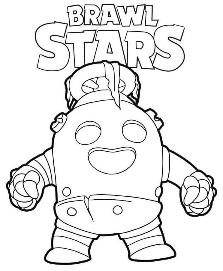 Coloriage gratuit à imprimer Brawl Stars - Brawler Spike