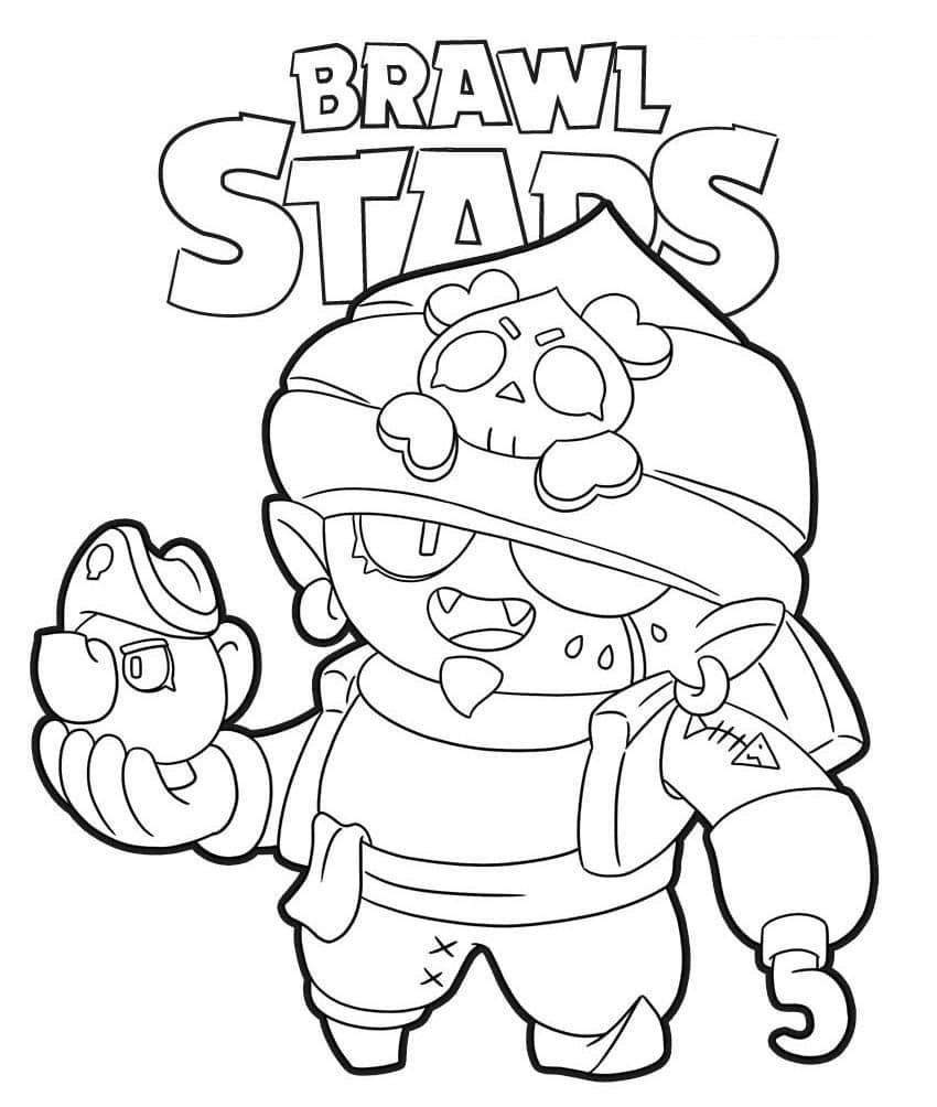 Coloriages Brawl Stars - Brawler Djinn skin pirate
