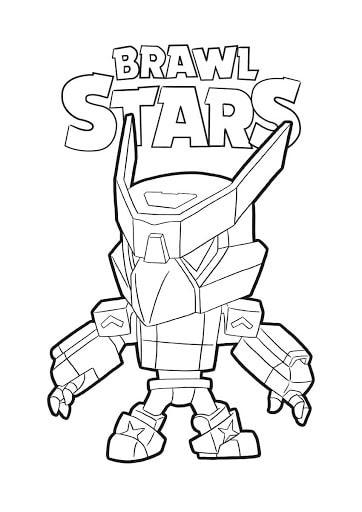 Dessin Brawl Stars à imprimer - Brawler Corbac skin meca