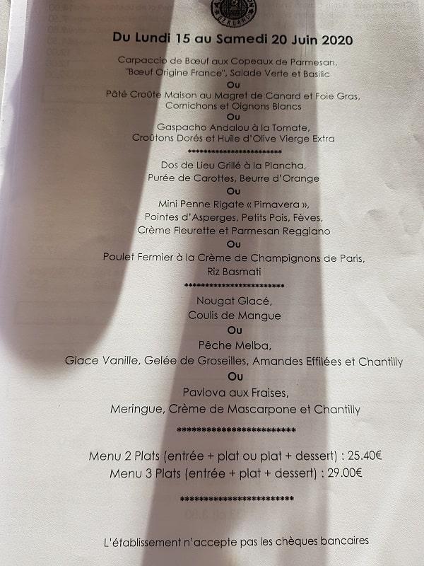Brasserie/Restaurant Argenson Lyon - le semainier