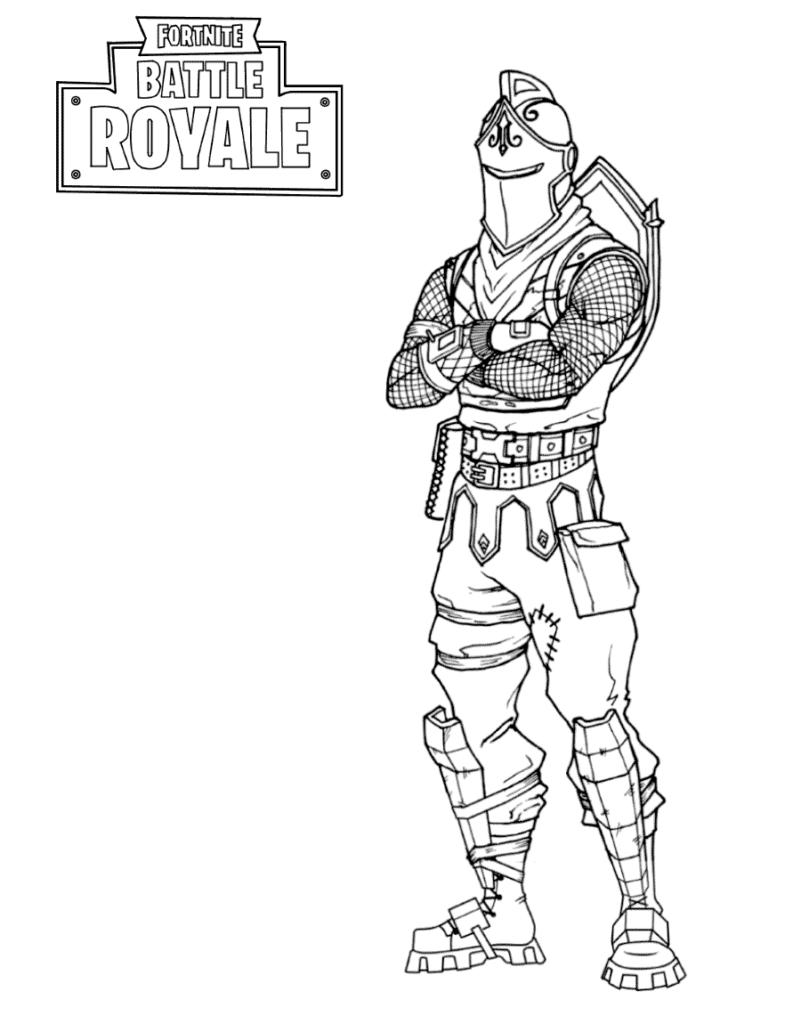 Coloriage Fortnite - Chevalier noir - Black knight
