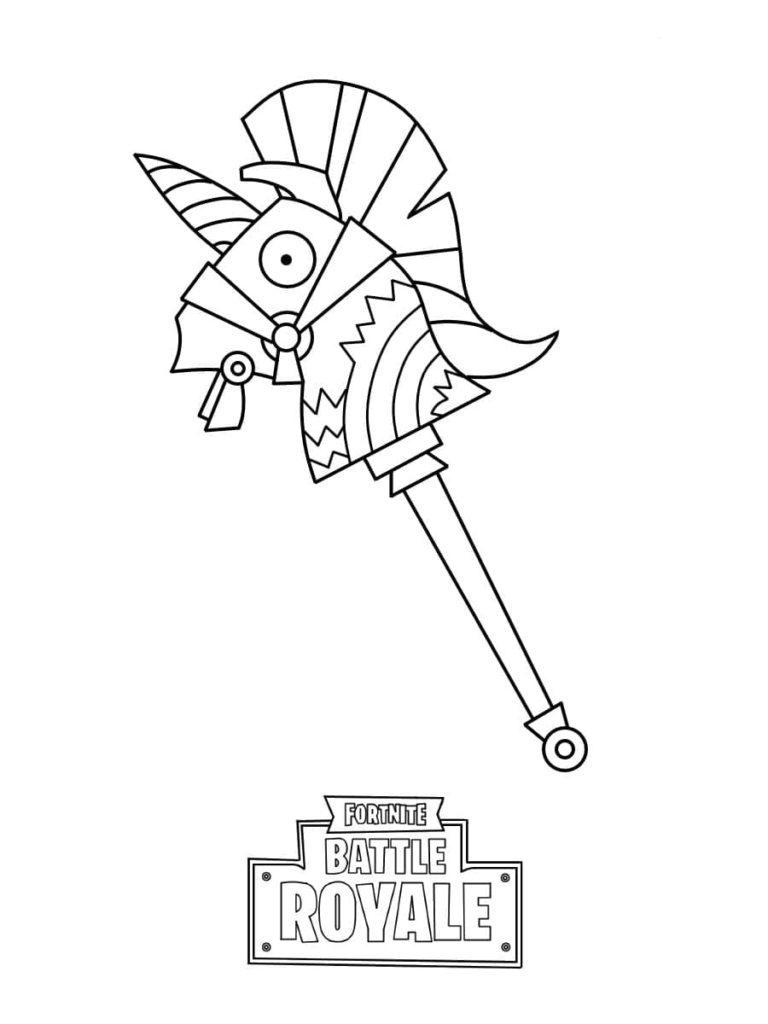 Coloriage Fortnite - pioche lama