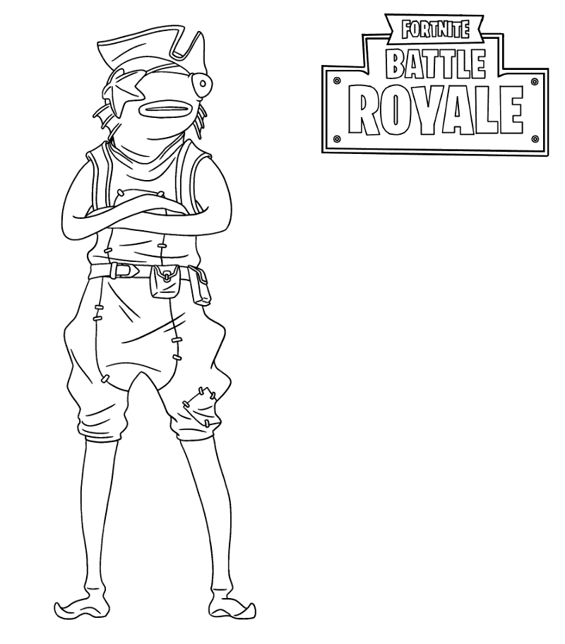 Coloriage Fortnite - Saison 8 - Poiscaille pirate