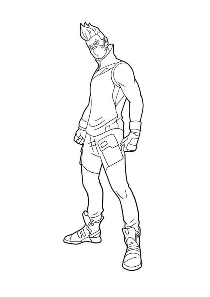 Coloriage Fortnite Nomade
