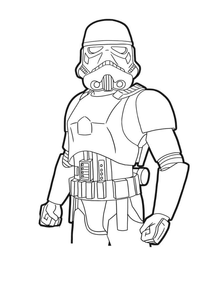Coloriage Fortnite - Skin Star Wars - Stormtrooper
