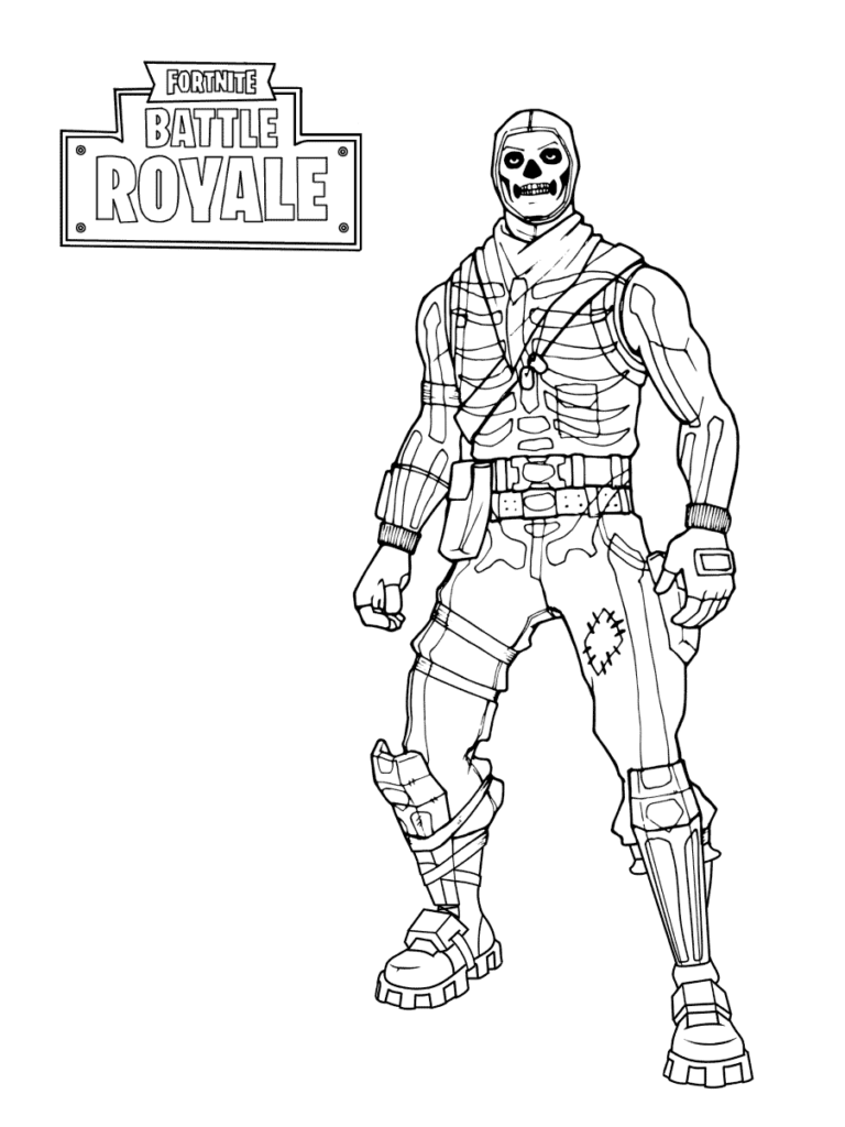 Coloriage Fortnite - Skin soldat au crane - skull trooper